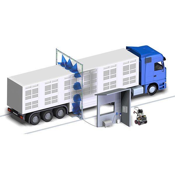 Cabina Arco Desinfeccion Covid Vehiculos Camiones Transporte Colombia Bogota