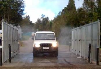Arco Desinfeccion Covid Vehiculos Camiones Transporte Colombia Bogota