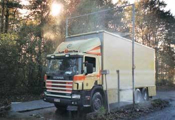 soluciones vehiculares con arcos de desinfeccion para automoviles - buses - camiones - motocicletas